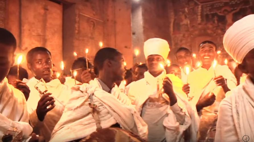 ደማቅ የፋሲካ በዓል አከባበር በ ጎንደር - Vibrant Eastern Holiday Celebration In Gonder, Ethiopia