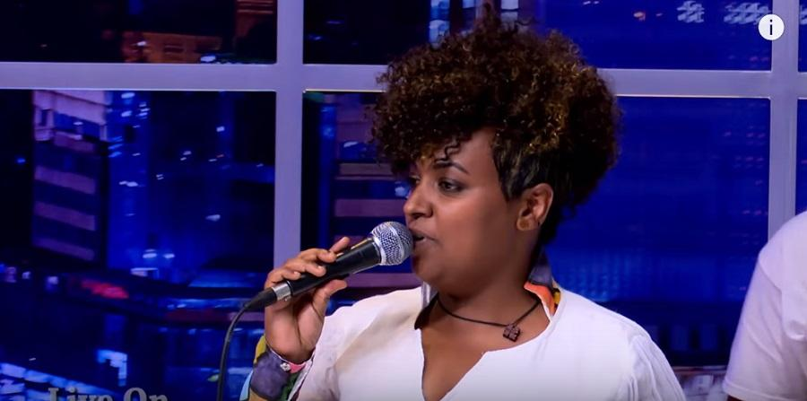 "Seifu Fantahun: Dina Anteneh Performing Her Song ""Nama"" Live  on Seifu Show"
