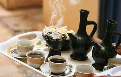 A coffee ceremony (Amharic: ቡና ማፍላት, translit. buna maflat) is a ritualised form of making and drinking coffee. The coffee ceremony is one of the most recognizable parts of Ethiopian culture and Eritrean culture. Coffee is offered when visiting friends, during festivities, or as a daily staple of life. If coffee is politely declined then most likely tea (shai) will be served.
