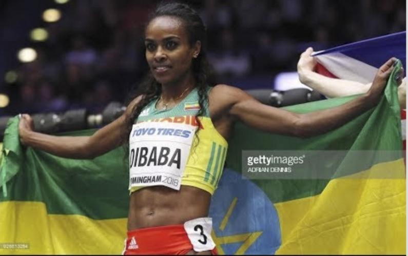 Genzebe Dibaba WINS women's 1500M Indoor World Championships Birmingham 2018